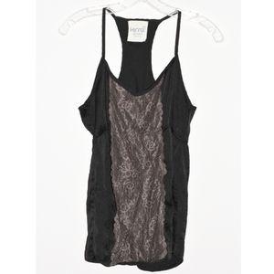 Black Silky Lace Kira Tank Top